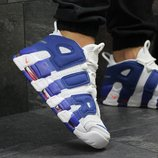 Кроссовки Nike Air More Uptempo 96 white/blue