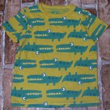 футболка хб Крокодилы 3-4года Некст сток большой выбор одежды 1-16лет