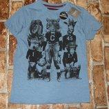 футболка Звери 5лет Некст сток бирка большой выбор одежды 1-16лет