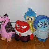 Мягкие игрушки из мультфильма Головоломка Печаль Страх Радость Гнев и слон Бинго Бонго Дисней Disney