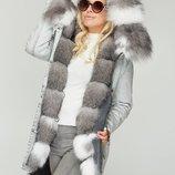 Зимняя парка Бесплатная доставка опушка из натурального Frost Fox mnv-