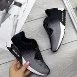 Женские серые кроссовки Nike Air омбре