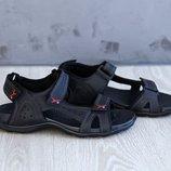 Мужские сандалии на липучках натуральная кожа
