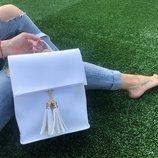 Женская сумка-рюкзак с кисточками, 8 расцветок