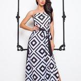 Шикарное, стильное платье- сарафан в пол размер Л 46-48
