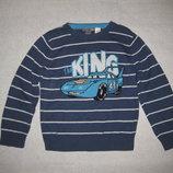 4-6 лет, хлопковый свитер Тачки от Disney