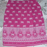 Розовая юбка на шикарные формы, р.24 наш р.58 Cotton Traders