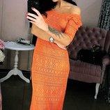 платье красивая вязаная ажурная туничка состав 50% акрил и 50 % хлопок размер см