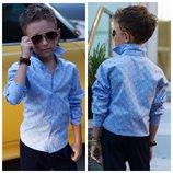 Стильная школьная рубашка мальчику рубашка Armani