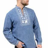 Мужская вышиванка, сорочка. Рубашка, вишиванка чоловіча, р-р 44-54