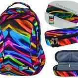 Школьний набор рюкзак и пенал st.right Illusion