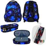 Школьний набор рюкзак и пенал st.right Cosmos