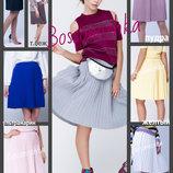 42-48 Вязаная юбка-плиссе, женская юбка. юбочка, юбка плиссированная, юбка плиссе