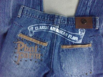 Штани-Капрі джинсові чоловічі Phat Farm XS-S брюки джинсы мужские