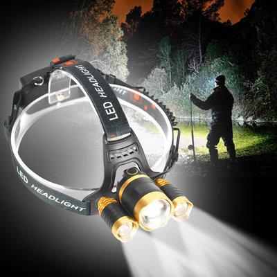 Налобный фонарик 3 светодиода