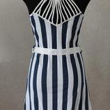 очень милое платье в полоску 42-44 3 вида полоски