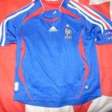 Спортивная фирменная оригинал футбольная футболка adidas зб Франции .6-8 лет