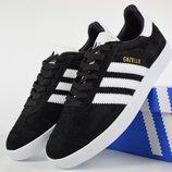 Кроссовки мужские Adidas Gazelle black/white