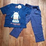 Пижама синяя для мальчика размер 86-92, 28-112 Ю