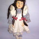 Коллекционная винтажная кукла фарфор фарфоровая куколка винтаж