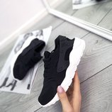 Женские черные кроссовки Nike Huarache