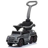 Детский двухместный электромобиль - толокар 2 в 1 Mercedes M 3853 EL, кож сиденье