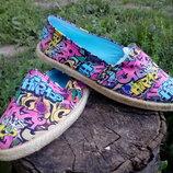 Женская летняя обувь мокасины-эспадрильи , производитель Испания