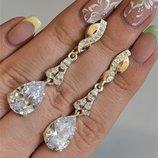 Серьги серебряные с золотом сережки 099с