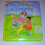 Детские книги Картонная книга молитв для детей на английском Michelle Medlock Adams My big Book of P