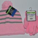 Новый набор шапка и перчатки для девочки 6-8 Лет shoogadoo too оригинал сша