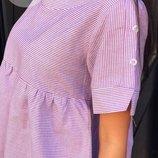 Легкое платье в полоску Ткань - хлопок Размеры-42-44 44-46