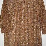 Гипюровая коричневая блуза Next