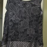 14-16 next брендовая стильная атласная блуза без рукавов