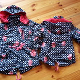 Супер ціна р.98-128 Осіння куртка-парка з капюшоном, на флісі. Grace