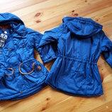 122,128 Демісезонна куртка -парка на флісі, для хлопчика. Грейс