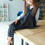 Школьный пиджак жилет жакет натуральная ткань, школьная форма 110 116 122 128 134 140 146 152 158