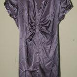 8 с 36 офисная атласная блуза