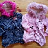 р.3-8 Суперова термо-кофта куртка з капюшоном для дівчинки. Grace