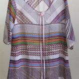 12-14 стильная шифоновая длиная блуза туника
