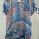 12 м 40 стильная шифоновая блуза с золотой нитью