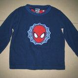 флисовая пижамная кофта Человек Паук Rebel 3-4г. 98-104см