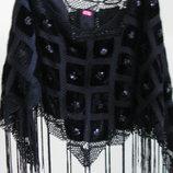 14-16 M&s шикарная бархатная накидка с изысканной вышивкой