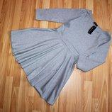 Стильное лаконичное стрейчевое серое платье just glamour р. м-s 44