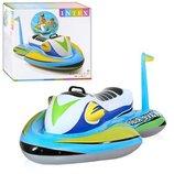 Детский надувной скутер плотик с ручкой держателем Intex 57520 размер 117х77см