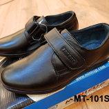 Детские кожаные классические туфли для мальчика в школу