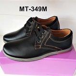 Черные классические детские туфли для мальчика в школу