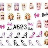 Наклейки для ногтей слайды рисунки в наличии Barbie