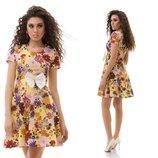 платье цвет принт Цвета-Электрик,желтый,пудра