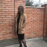 Бежевое пальто деми New Look