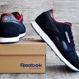 Мужские кроссовки Reebok classic синие и черные 41-46р